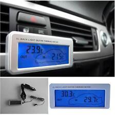 Termometro Digitale Auto tuning sensore temp. interna e esterna 82x18mm BLU
