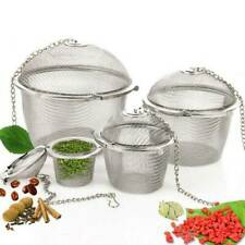 Tea Ball Spice Herbal Strainer Mesh Infuser Filter Diffuser Stainless Clip Mini