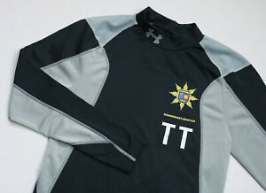 Under Armour Eu Hybrid Fusion Mock men Long Sleeve top size L Large FITTED black