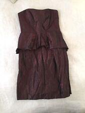 CUE strapless womens peplum style evening dress sz 8