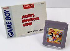 Nintendo Game Boy GB-MICKEY 'S DANGEROUS CHASE + istruzioni