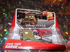 """DISNEY PIXAR CARS """"RACE TEAM SARGE with Headset"""" Die-Cast Metal, Scale 1:55"""
