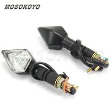 Clear Lens Motorcycle LED Turn Signals Brake Light Flasher For SUZUKI 10mm Moto