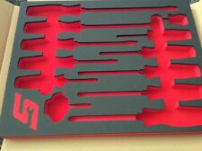 SNAP ON RED Foam Insert  SCREWDRIVER Tool Box Storage Drawer Liner NEW