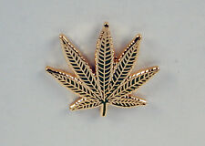 Marijuana Leaf Lapel / Hat Pin NICE! Free U.S. Shipping