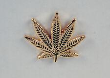 Marijuana Leaf Lapel / Hat Pin NICE! Free U.S. Shipping