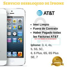 Servicio Desbloqueo Iphone AT T AT&T  6 s 6s+ 6 plus SE Unlock Service