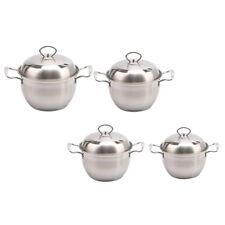Korean Stainless Steel Stock Pot with Lid and Handles Nonstick Milk Pan