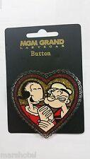 MGM GRAND HOTEL CASINO LAS VEGAS POPEYE THE SAILOR MAN & OLIVE OYL HEART PIN