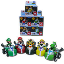 5x Super Mario Bros Bowser Yoshi Pull Back Car Figure Set