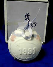 Lladro 1991 Christmas Holiday Ball #5829 Brand Nib Ornament Bargain Free Shiping