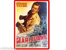 John Wayne Movie Weed Cannabis  Poster  Refrigerator / Tool Box Magnet