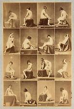 IGOUT ETUDES POUR ARTISTES NU Jeune femme, Photo albuminé Vintage, c. 1875