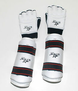 TAEKWONDO sparring gear FORE ARM gard AND Hand gloves PROTECTOR SET hand guard