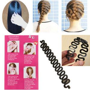 French Hair Braiding Tool  Roller  With Magic Hair Twist Styling Bun Maker