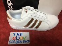 Adidas Baseline Kids Boys/Girls AQ0783 White/Copper Shoes NEW