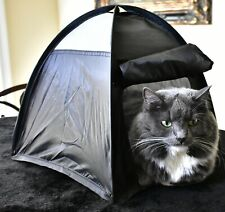Cat or Dog Bed that pops up like a Tent- My Cats go Psycho *Help Save Animals*