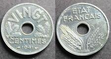 Vingt Centimes ÉTAT FRANÇAIS, 1941 TTB