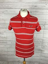 Men's Hollister Polo Shirt - Size Small - Striped - Good Condition