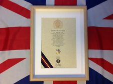 Oath Of Allegiance Royal Anglian Regiment (framed with Cap Badge)