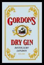 Gordons Dry Gin Nostalgie Barspiegel Spiegel Bar Mirror 22 x 32 cm