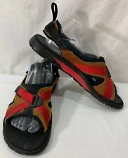 Mens RARE Nike Suede Adjustable Sport Sandals Brown/Red Sz (8)
