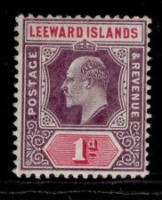 More details for leeward islands edvii sg30 1d purple & carm, nh mint. cat £11. mult crown wmk