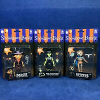 Complete Series 1 Lot x3 Showdown Bandit Action Figures Grieves Miss Undertaker