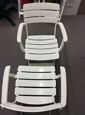 Kettler 2 Venezia Arm Chairs, 2 Venezia Side Chairs, Resin White Folding Chairs