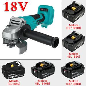 "18V Portable Cordless Angle Grinder 100mm / 4"" For Makita Battery Power DIY Tool"