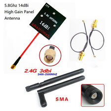 Hubsan H501S H107D+ H107D Enhanced FPV Distance 5.8Ghz 14dBi Panel Antenna 2.4GH