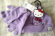 Girls Hello Kitty ~ Warm Winter Knitted/Knit Bobble Hat & Gloves Set ~ 9-13 Yrs