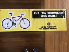"Used 1996 Schwinn Vinyl Banner/Sign 2'x6' ""The '96 Schwinns Are Here"" Homegrown"
