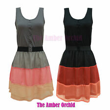 Petite Sleeveless Short/Mini Skater Dresses for Women