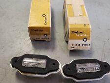Pair NOS 1969 Pontiac Front Marker Lights OEM GM Bonneville Catalina Executive