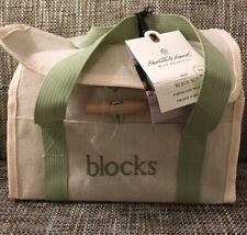 New Hearth & Hand Magnolia Kids Wood Toy Blocks 18-Piece w/Storage Tote Nwt