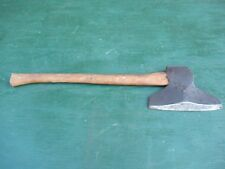 "VINTAGE Broad Axe 9+"" Blade BEVELED Head Tool And Has 26"" Long Wooden Handle"
