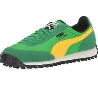 PUMA FAST RIDER SOURCE SNEAKERS NEW MEN'S SIZE 11.5 GREEN/YELLOW/BLACK RETRO