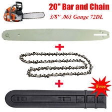 """20"""" 3/8'' .063"""" 72DL Bar and Chain For Stihl Chainsaw 029 038 039 MS290 MS310"""