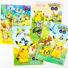 Cartoon Pokemon Go Pikachu Coloring Book Kid Early Education with Small Stickers