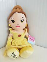 "RARE Disney Beauty & The Beast Princess Belle - 16"" Soft Plush Toy / Doll Teddy"