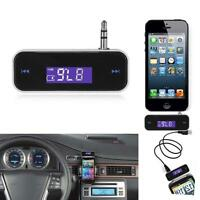 Wireless Music to Car Radio FM Transmitter For 3.5mm MP3 Moible Phone Tablet 5VJ
