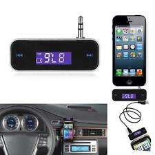 Mini 3.5mm Wireless Car Jack MP3 Player FM Transmitter Radio LCD USB Charger Kit