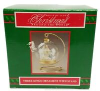 Vintage House of Lloyd Three Kings Nativity Christmas Ornament and Stand 530399