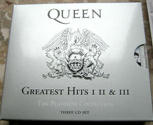 Queen * Greatest Hits I II III The Platinum Collection 3 CD  TOP