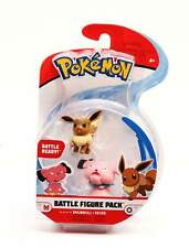 Pokemon Battle Figure Pack S3 - EEVEE & SNUBBULL (2-Pack) - Wicked Cool Toys NIB