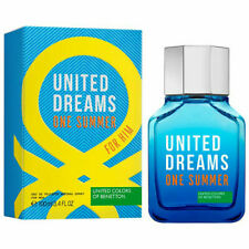 UNITED DREAMS ONE SUMMER FOR HIM of Benetton EDT 100ml / 3.4 Fl.oz Spray SEALED