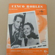 Songsheet cinco Robles Les Paul & Mary Ford 1956