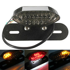 Motorcycle Bike LED Stop Tail Turn Signal Brake License Plate Integrated Light