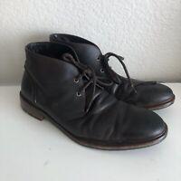 Johnston & Murphy Men's Boots Size 11 M Fulton Chukka Brown Leather